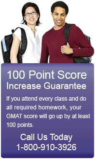 Testmasters' GMAT preparation course comes with a 100 point GMAT score increase guarantee.
